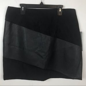 Bagatelle black faux leather skirt Size 12 NWT